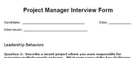 Project Manager Resume Sample - Job Interviews